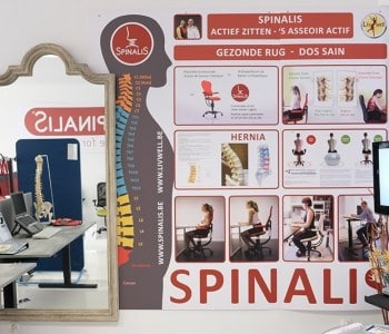 infopaneel ergonomische stoelen SpinaliS