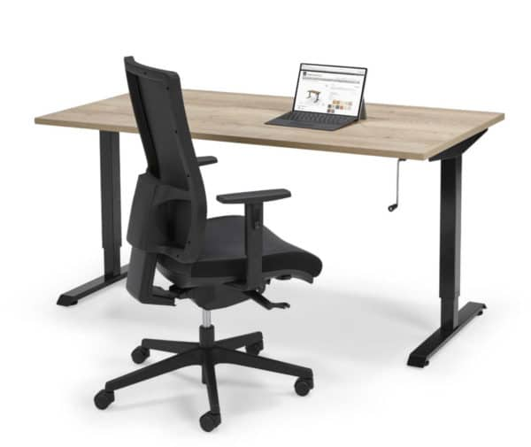 Flex Light – sitting/standing table with lever