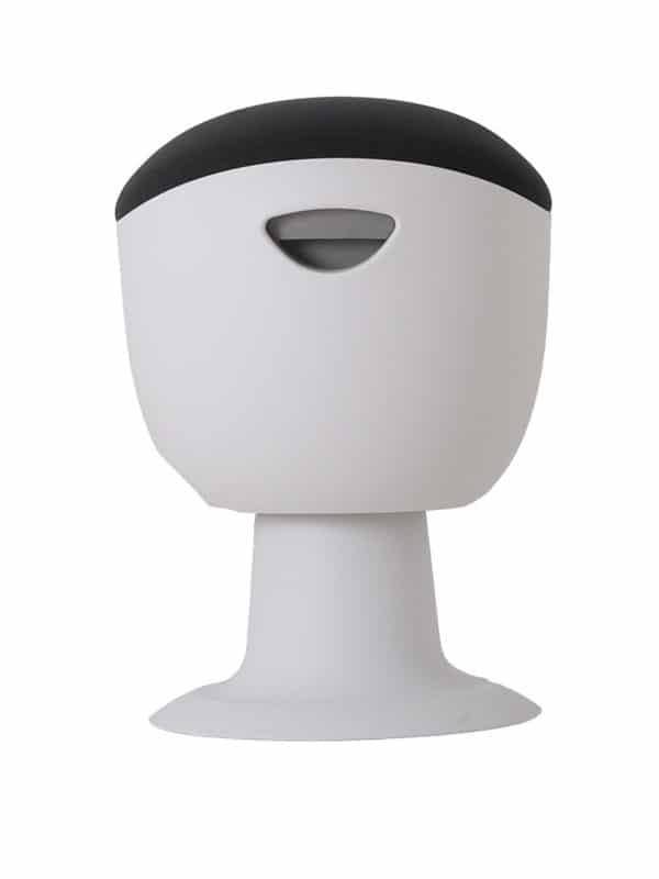 olala stoel grijs wit onderstel zijkant