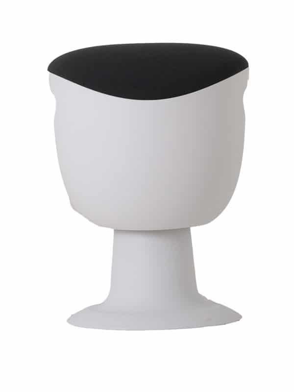 olala stoel grijs wit onderstel voorkant