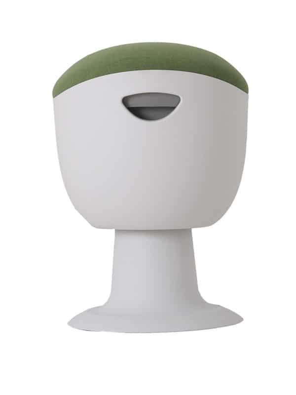 olala stoel groen wit onderstel zijkant
