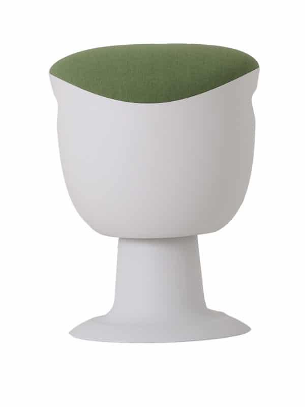olala stoel groen wit onderstel voorkant