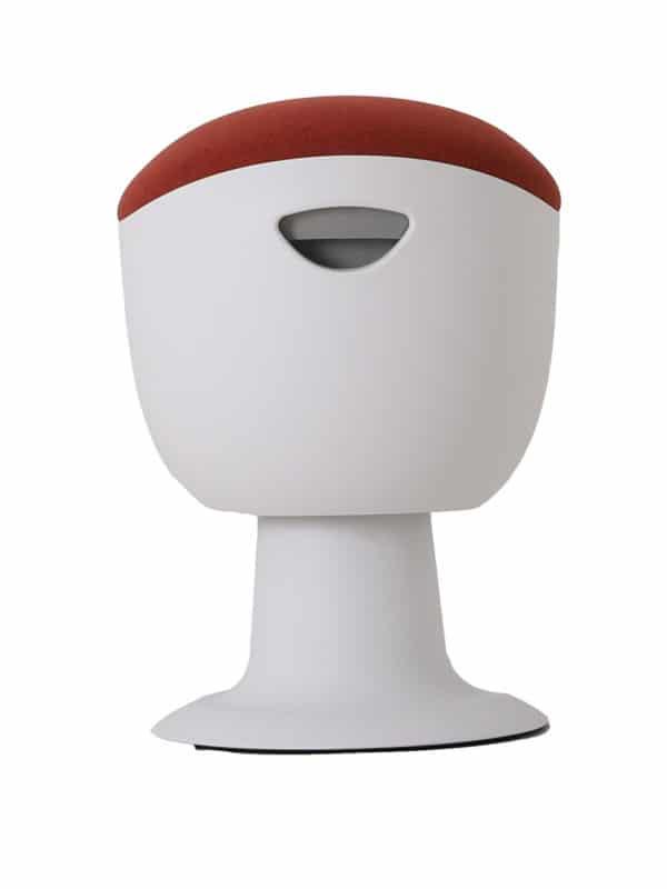 olala stoel rood wit onderstel zijkant