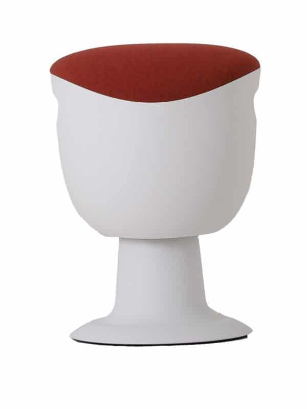 olala stoel rood wit onderstel voorkant